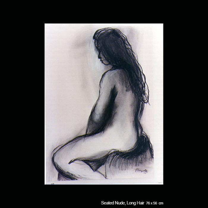 Seated Nude, Long Hair